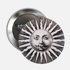 "Antique Sun 2.25"" Button"