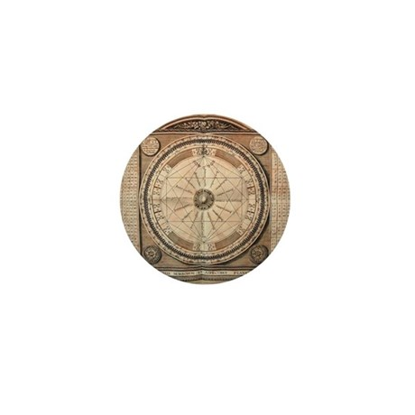 Medieval Planetary Aspects Mini Button