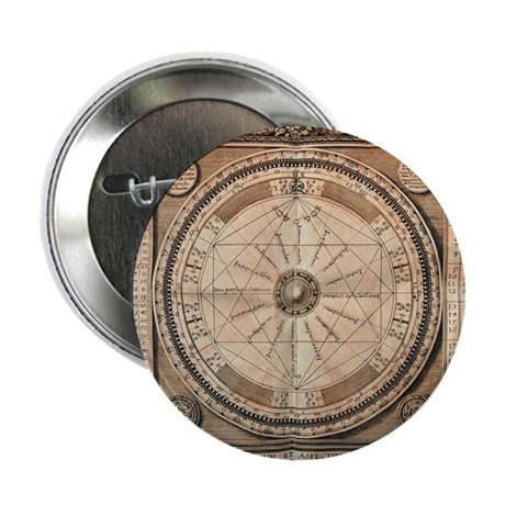 "Medieval Planetary Aspects 2.25"" Button"