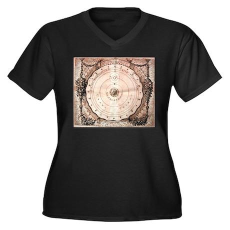 Medieval Astronomy Women's Plus Size V-Neck Dark T