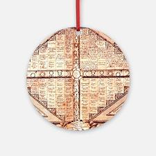 Medieval Alchemy Weather Char Ornament (Round)