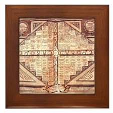 Medieval Alchemy Weather Char Framed Tile