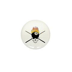 Skull Billiards Mini Button (100 pack)