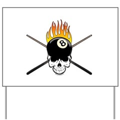 Skull Billiards Yard Sign