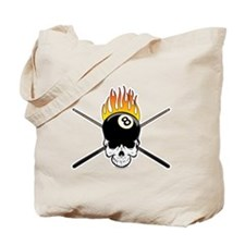 Skull Billiards Tote Bag