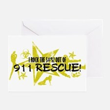 I ROCK THE S#%! - 911 RESCUE Greeting Cards (Pk of