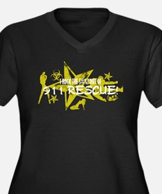 I ROCK THE S#%! - 911 RESCUE Women's Plus Size V-N