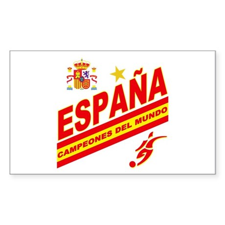 Spain World cup champions Sticker (Rectangle 10 pk