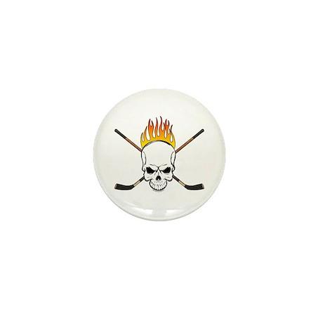 Skull Hockey Mini Button (100 pack)