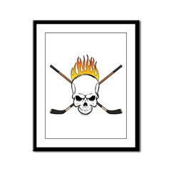 Skull Hockey Framed Panel Print