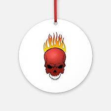 Skull Dodgeball Ornament (Round)