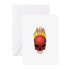 Skull Dodgeball Greeting Cards (Pk of 10)