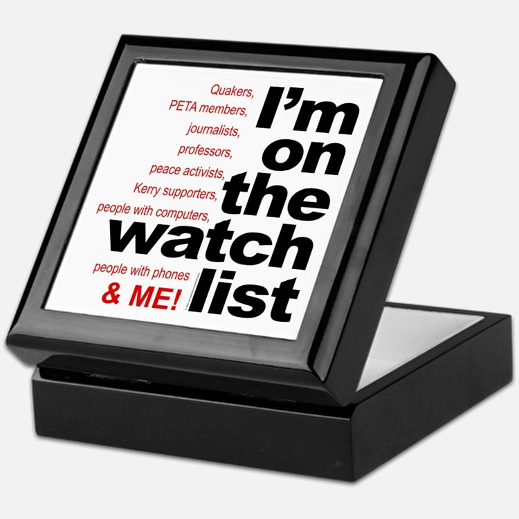 On watch list Keepsake Box