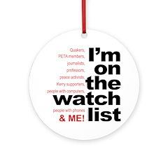 On watch list Ornament (Round)