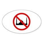 No Mosque Sticker (Oval 10 pk)