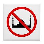 No Mosque Tile Coaster