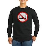No Mosque Long Sleeve Dark T-Shirt