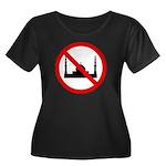 No Mosque Women's Plus Size Scoop Neck Dark T-Shir