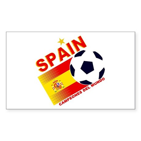 Spain World cup champions Sticker (Rectangle)