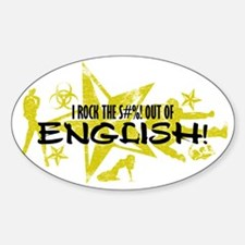 I ROCK THE S#%! - ENGLISH Decal