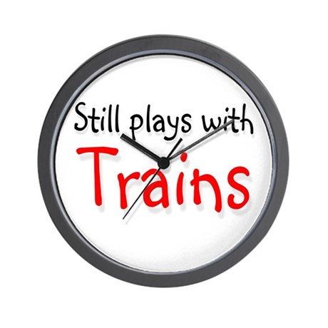 Still plays with Trains Wall Clock