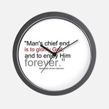 Chief End of Man Wall Clock