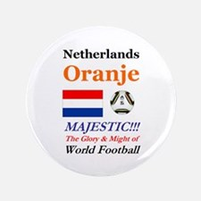"Netherlands World Soccer / Football 20 3.5"" Button"