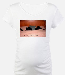 Newfoundland Dogs Sleeping in Bed Shirt