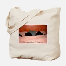 Newfoundland Dogs Sleeping in Bed Tote Bag