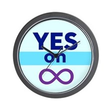 Yes On Infinity Wall Clock