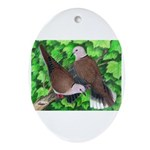 Ringneck Doves Oval Ornament