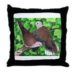 Ringneck Doves Throw Pillow