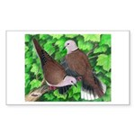 Ringneck Doves Rectangle Sticker