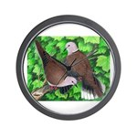 Ringneck Doves Wall Clock