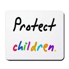 protect children Mousepad