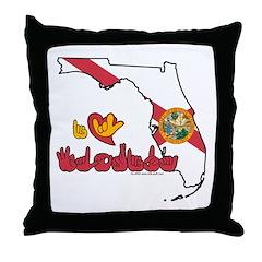 ILY Florida Throw Pillow