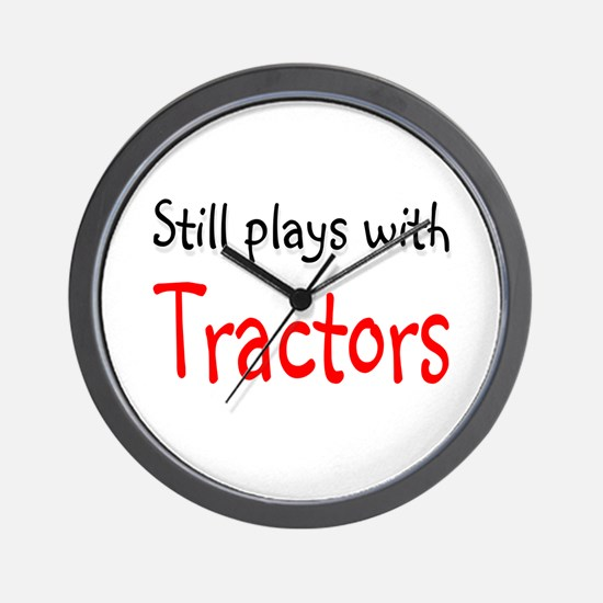 Still plays with Tractors Wall Clock