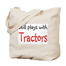 Still plays with Tractors Tote Bag