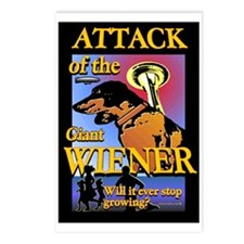 Attack of The Giant Wiener Postcards (Package of 8