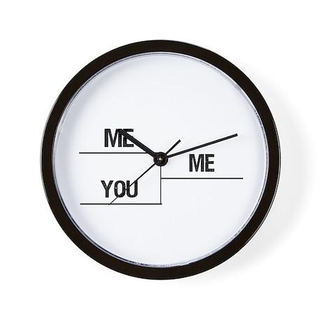ME YOU ME Wall Clock