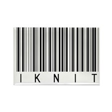Knitter's Barcode Rectangle Magnet