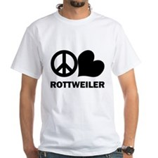 Peace Love Rottweiler Shirt