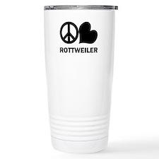 Peace Love Rottweiler Travel Mug
