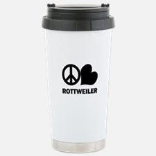 Peace Love Rottweiler Travel Mug