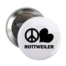 "Peace Love Rottweiler 2.25"" Button"