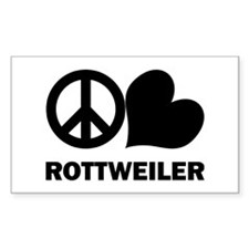 Peace Love Rottweiler Decal