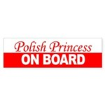 Polish Princess On Board Sticker (Bumper)