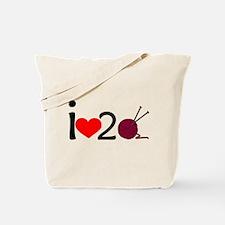 i heart 2 knit Tote Bag