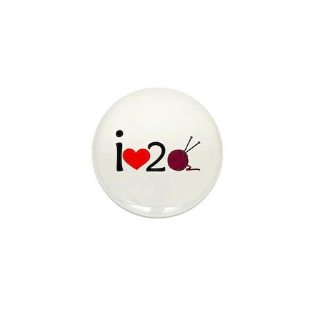 i heart 2 knit Mini Button