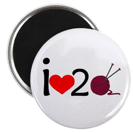 i heart 2 knit Magnet